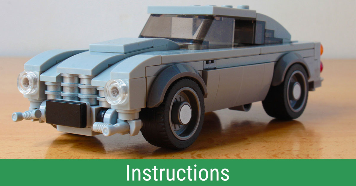 build your own mini lego aston martin db5 with working features instructions the brothers. Black Bedroom Furniture Sets. Home Design Ideas