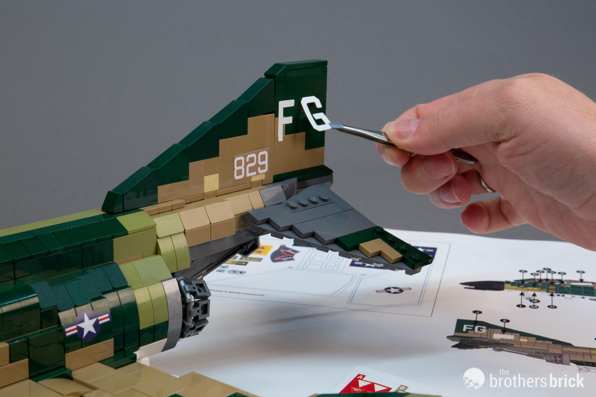 Brickmania 1031 F-4C Phantom Supersonic Jet Interceptor custom LEGO