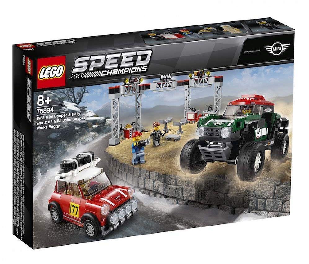 Lego 75894 Speed Champions 1967 Mini Cooper S Rally And