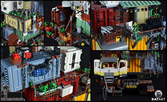 Post Apocalypse LEGO crate house