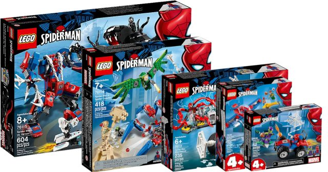 Five new LEGO Spider-Man sets revealed, available this