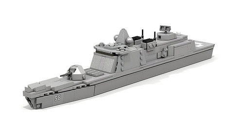 Whirlwind-class Guided Missile Frigate Render