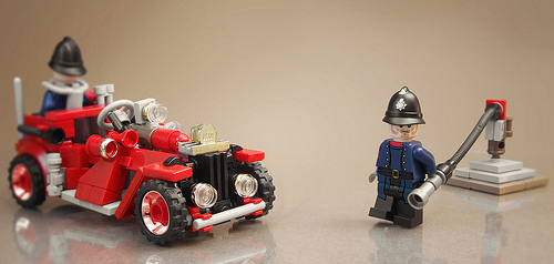 1930s Fire Brigade and Fire Engine