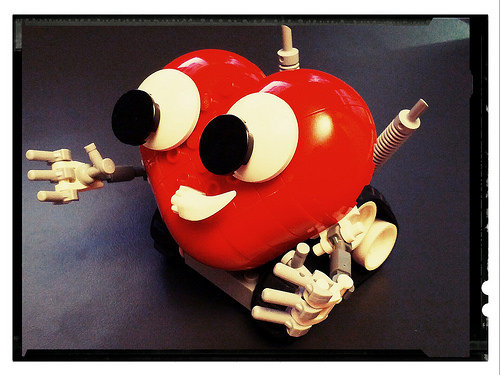 Lovebot wants a hug.