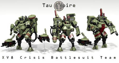 Tau Crisis Battlesuit Team