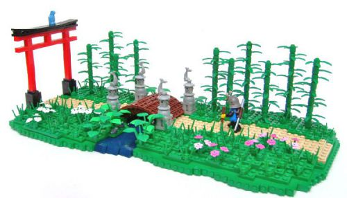 LEGO samurai diorama