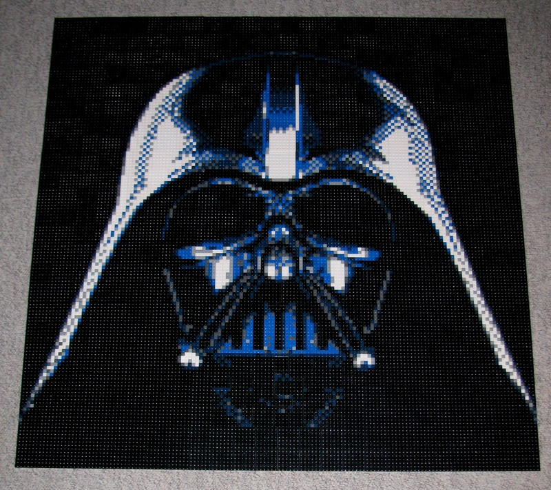 Star Wars Lego Darth Vadar Mosaic Uses Over 4000 Pieces
