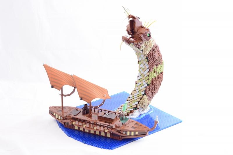 Sea Serpent LEGO Model