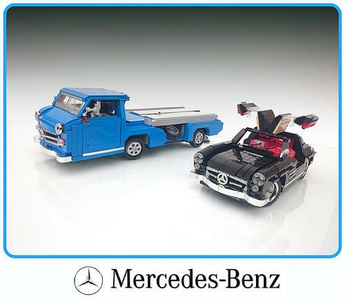 Mercedes-Benz Rennwagen Schnelltransprter