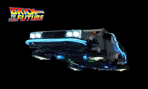 Flying Delorean Time Machine from Back to the Future
