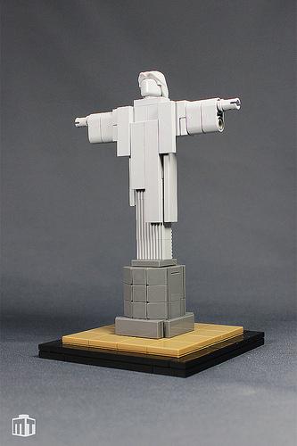 Rio De Janeiro S Cristo Redentor Statue In Lego The