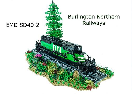 Burlington Northern EMD SD40-2