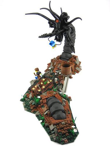 LEGO Black Fantasy Ephram's Garden diorama by Brian Kescenovitz