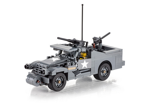 Brickmania M3A1 Scout Car custom kit