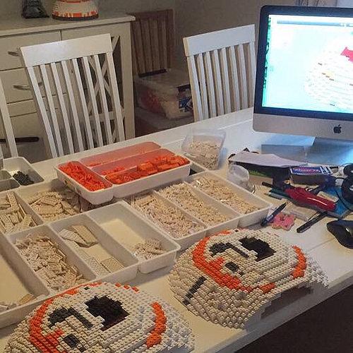 LEGO BB-8 work in progress