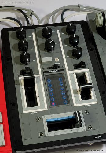 Lego DJ Mixer Half-scale [1:2]
