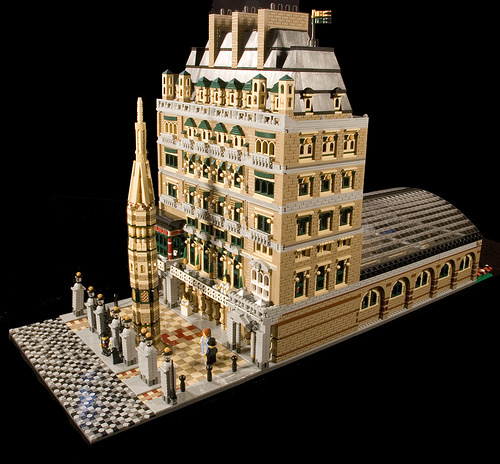 Charing Cross station, in Victorian times, built with LEGO