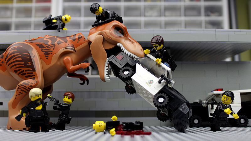 LAPD vs T-Rex