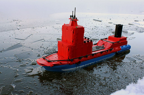 Ледокол. atomic icebreaker. Desert Eagle LEGO Technic Creations
