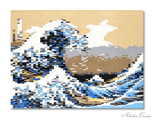 LEGO The Great Wave off Kanagawa 神奈川沖浪裏