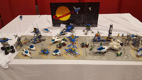 Brickfair Alabama, my small neo classic space stuff to cover a moc table that the moc didn't show.