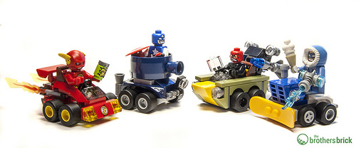 LEGO Superheroes Mighty Micros: 76063 The Flash vs. Captain Cold and 76065 Captain America vs. Red Skull