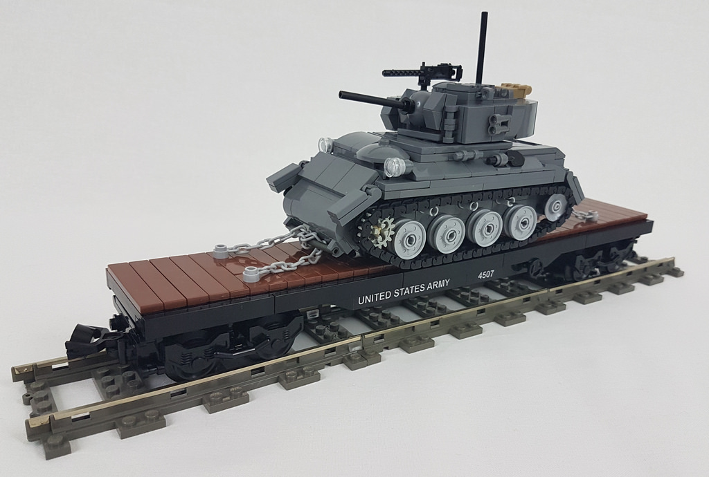 Riding the rails with a LEGO WWII Army supply train | The