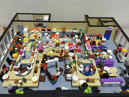 Lego sushi train