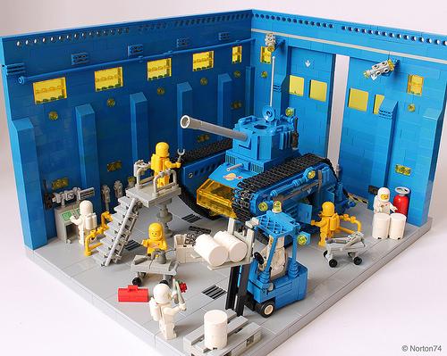 """Blue Bull"" Space Tank at the maintenance hangar"