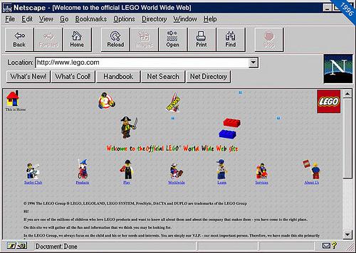 lego.com in 1996