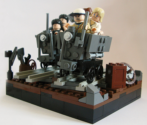 Indiana Jones Mine Cart Chase Roundup The Brothers Brick The