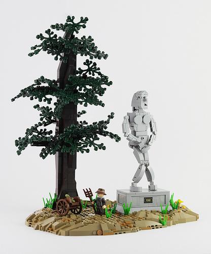 Naked Lego Statue