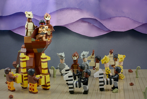 LEGO The Lion King Theatre Scene