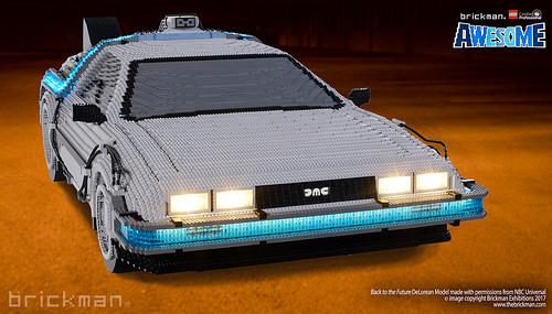 LEGO® Brick Back to the Future DeLorean front
