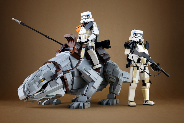 LEGO Sandtrooper and Dewback