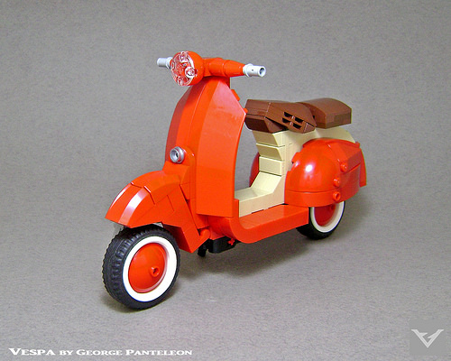 Zip around Rome on this lovely red LEGO Vespa | The Brothers