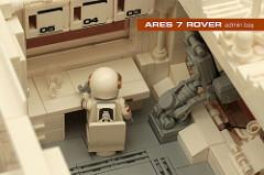 LEGO Mars rover interior