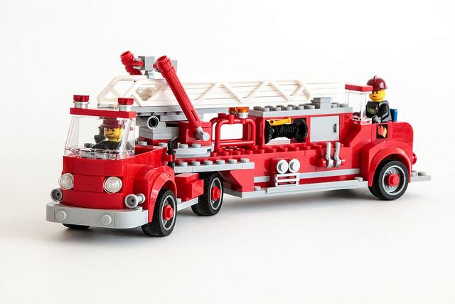 Vintage Open Cab Fire Truck