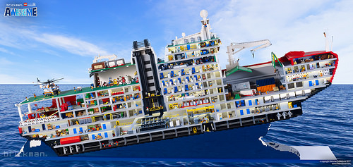 LEGO® Brick Icebreaker - cutaway
