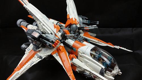 Close look of Merkabah gunship