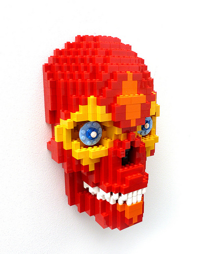 Day of the Dead Red Skull