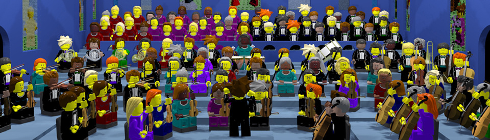 Animated Lego Orchestra Plays Beethovens Ninth Symphony The