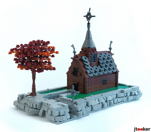 Lego Viking Stave Church The Brothers Brick The Brothers Brick