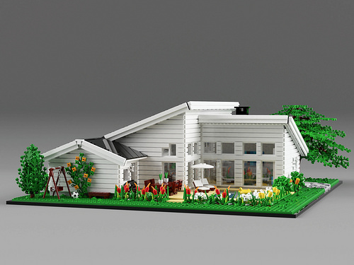 A well-planned house for a big LEGO family | The Brothers Brick