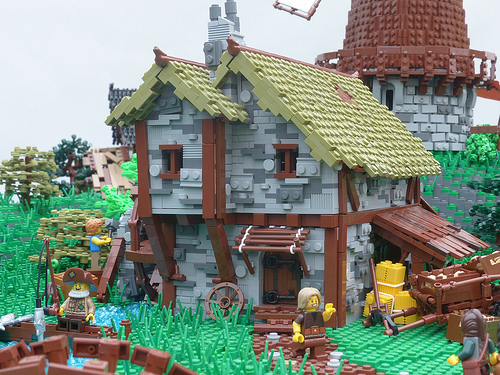 Medieval LEGO scene