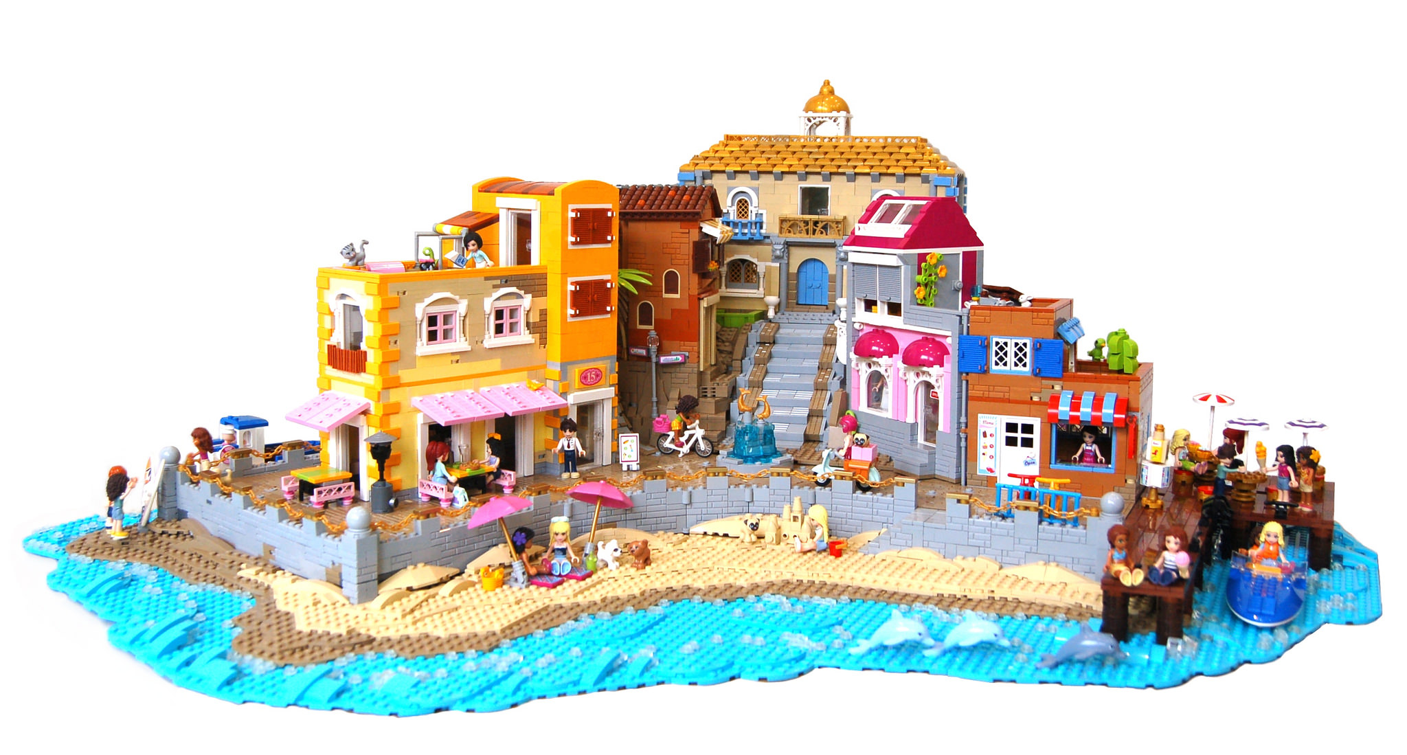 Lego Friends On Vacation At The Beach The Brothers Brick The