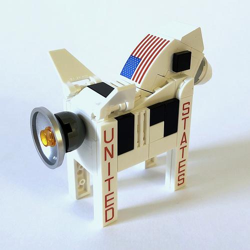 LEGO Dala Horse - Saturn V 2