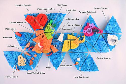 LEGO Dymaxion Map