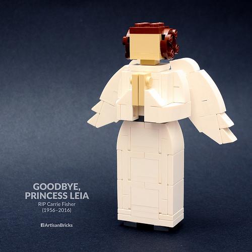 Artisan Bricks by Jeffrey Kong - LEGO Princess Leia Miniland Figure - RIP Carrie Fisher (1956-2016)
