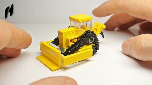 Small Lego Bulldozer (MOC)